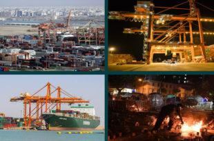 Protesters blocked Iraq's vital port of Umm Qasr