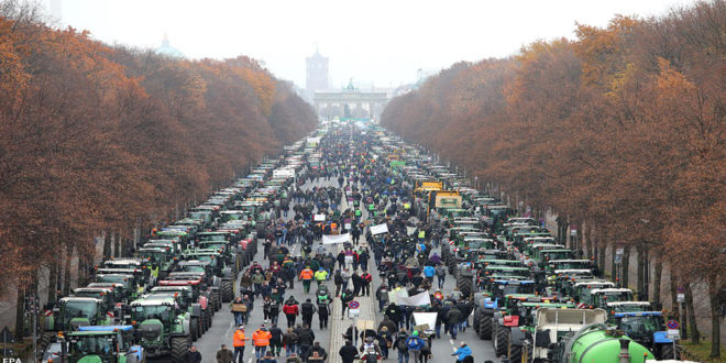 An amazing protest from the German farmers