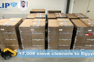 Caption news on Filip Sieve Cleaners Shipping day!
