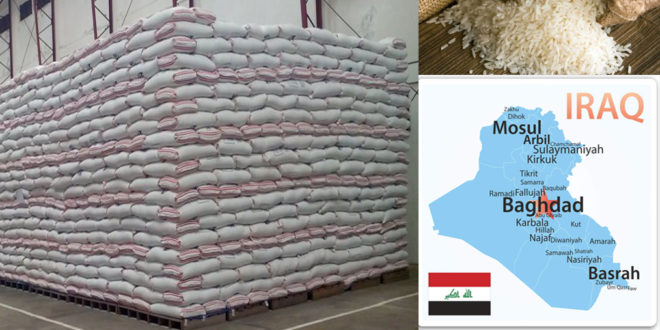 'Iraq has only 190,000 tons of rice left for food program'