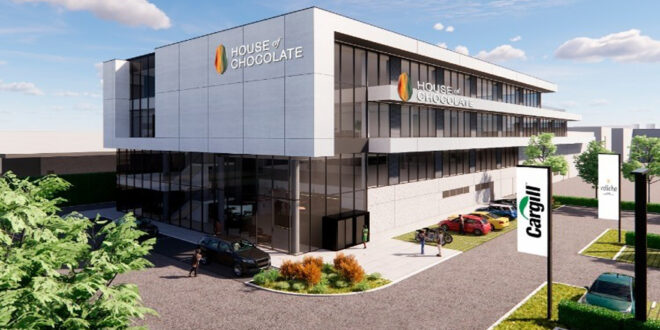 Cargill is building a research lab and creative workplace in Belgium at a cost of $21 million called 'House of Chocolate'