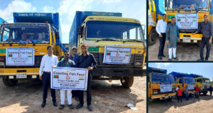 Caption News on Aleya Feeds Ltd's first export to India