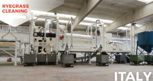 Cimbria has partnered building the new plant in Teramo, projecting and supplying a line of ryegrass processing machines.