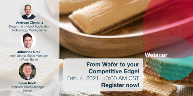 "Bühler Group will conduct a webinar ""From wafer to your competitive edge"""