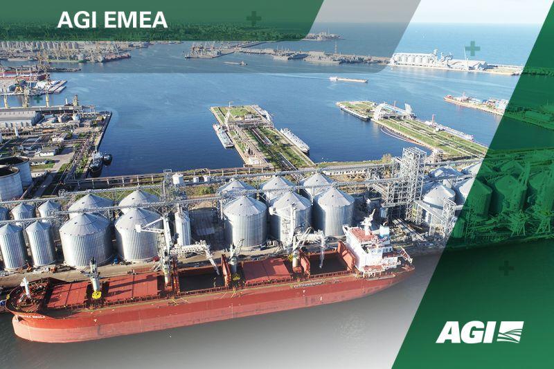 Caption news on the turn-key solution includes No. 24 AGI FRAME flat bottom silos & more