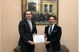 Caption news on the membership certificate to the Turkish Ukrainian Businessmen Association of Erkaya company
