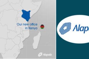 Caption news on Alapala's new office in Nairobi, Kenya