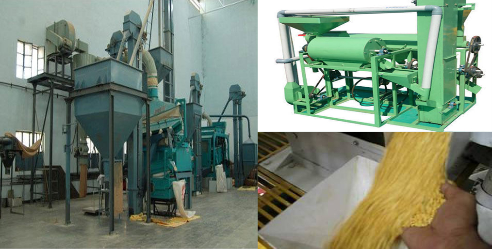 What is the condition of pulses processing machinery in India?