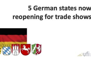 5 German states have by now announced dates and conditions for trade shows and business events