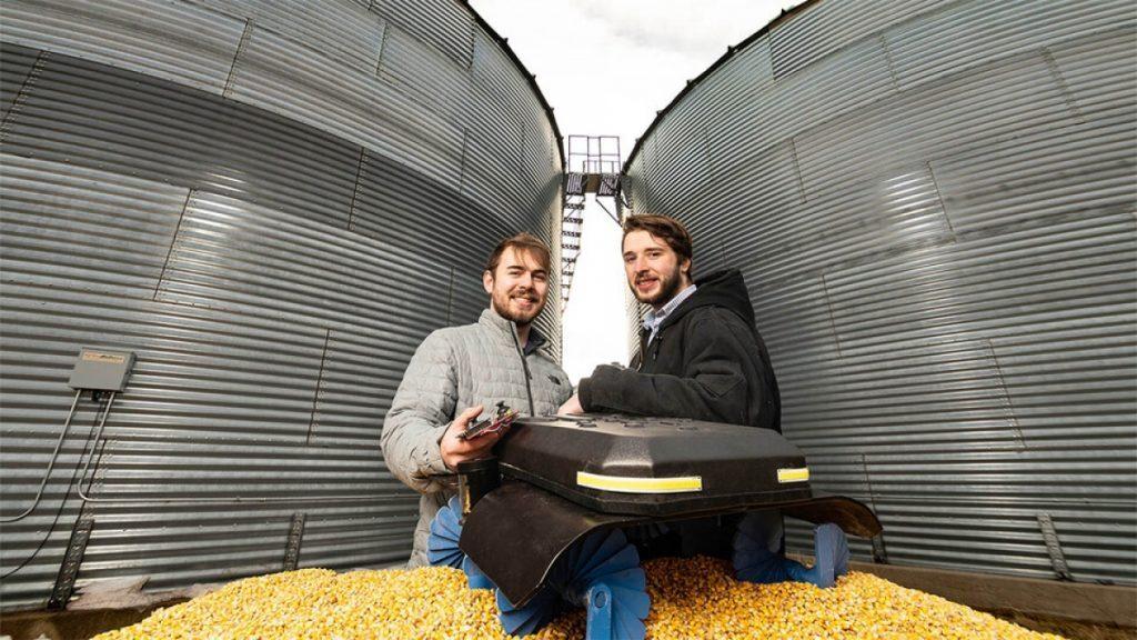 Husker undergrads won the national award for grain robots