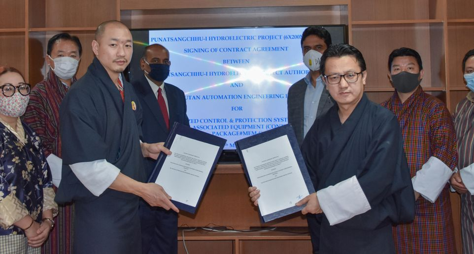 HPP Punatsangchhu-I, Bhutan – Contract signing for a new computerized control system and protection system