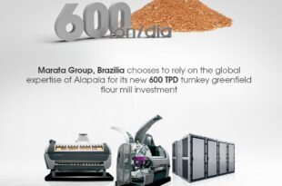 Brazil's Marata Group has chosen Alapala to invest in its new 600 TPD Turnkey Greenfield Flour Mill