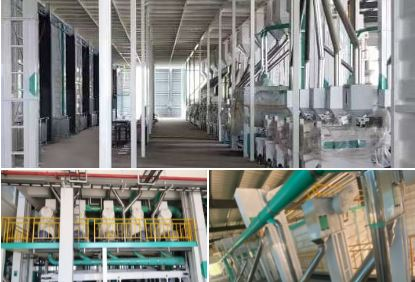 A 600TPD rice mill plant is currently under installation by COFCO Engineering & Technology