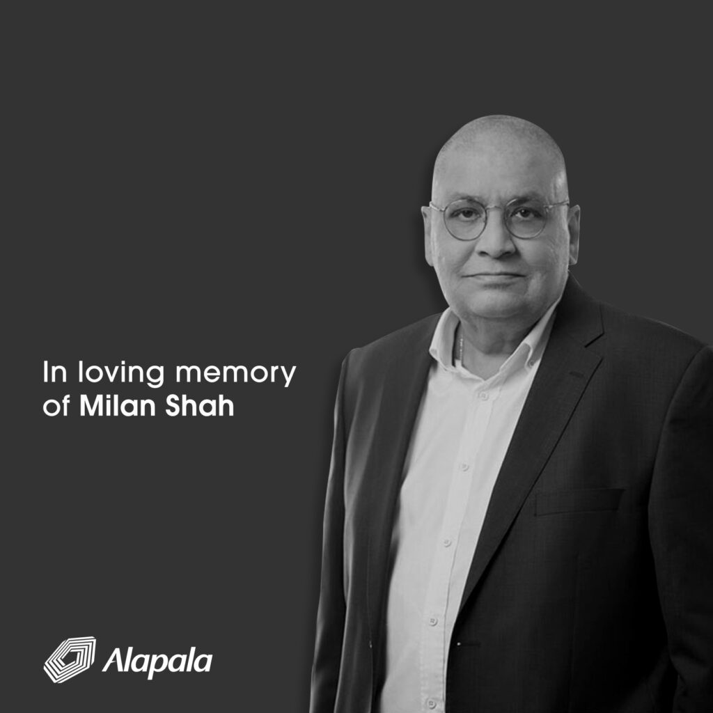 Milan Shah, the Technical Director of Alapala, has died