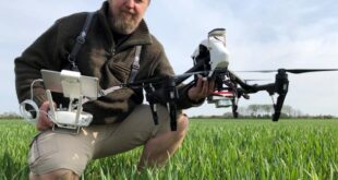 Use of drone technology increases income in agriculture